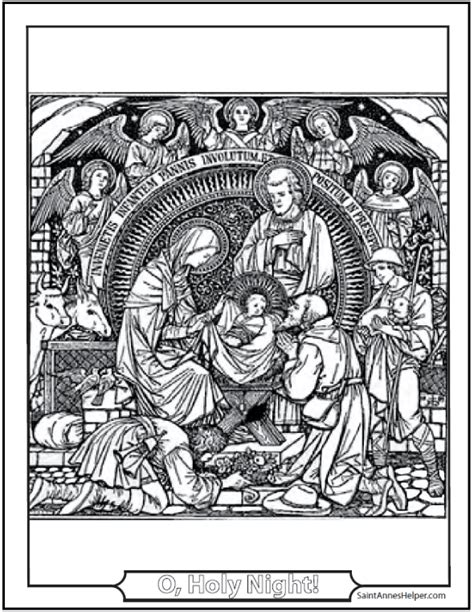 catholic nativity scene coloring pages 15 printable christmas coloring pages jesus mary