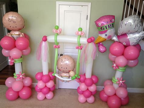 baby girl balloon decorations baby shower balloons