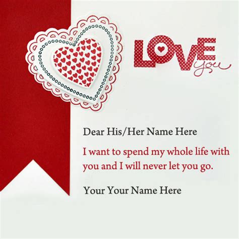 what to write in valentines card write name on cards name pictures search results
