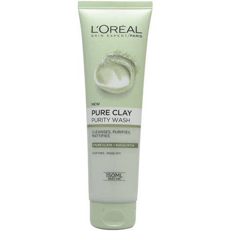 L Oreal Wash l oreal clay purity wash 150ml ebay