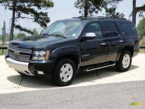 black 2008 chevrolet tahoe z71 4x4 exterior photo