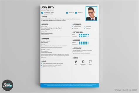Best Resume Template Free by Cv Maker Professional Cv Examples Online Cv Builder