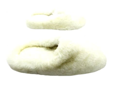 white fluffy slippers new fluffy white sheepskin mule leather slippers shoes ebay