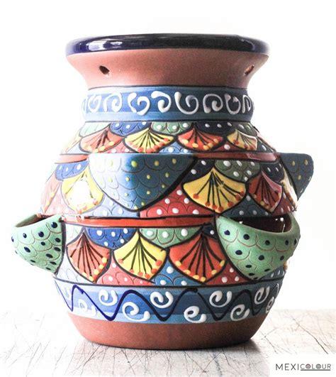 Clay Pottery Strawberry Jar Ceramex Pot Handcraft Garden Strawberry Jar Planter