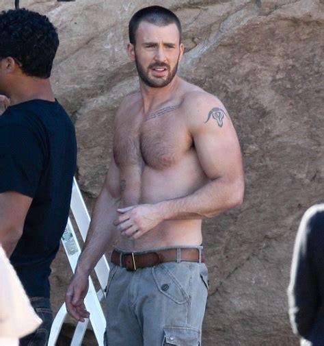 4 new photos chris evans shirtless inside his new photo