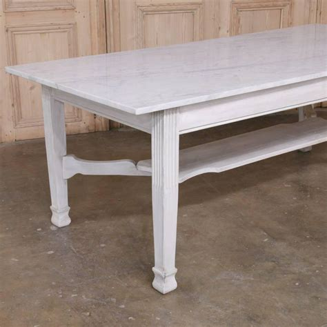 Marble Dining Tables For Sale Antique Marble Top Dining Or Confectioner S Table For Sale At 1stdibs