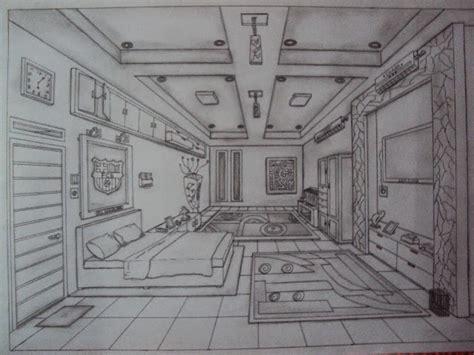 teknik membuat gambar perspektif satu titik lenyap quot desain interior quot