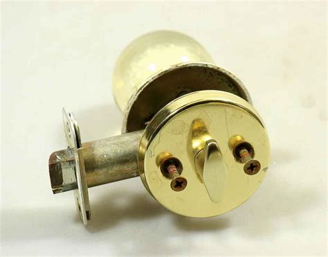 Mid Century Door Knob by Mid Century Modern Lucite Knob Lock Set Olde Things