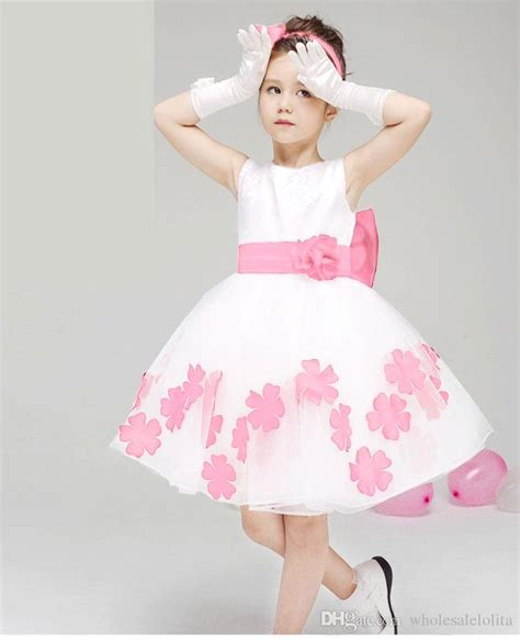 Kd10 Princess Dress Import Pink Size 12 s white and petal princess flower