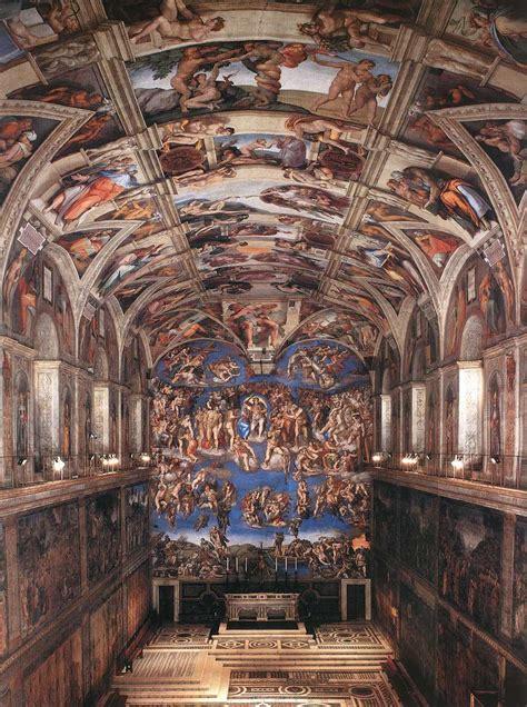 What Is Painted On The Ceiling Of The Sistine Chapel by Frescoes In The Sistine Chapel