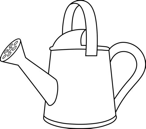 watering can template cards watering can lineart to color in cricut and svg