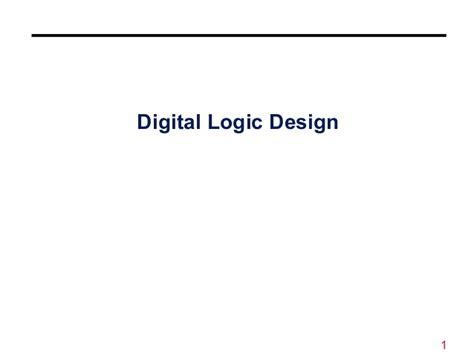 digital logic design number system