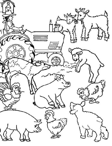 farm coloring pages farm animal coloring page clip and color part