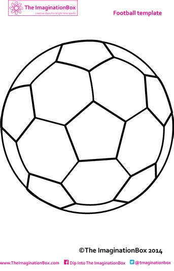 Kids Soccer Football Printables And Activities The Imagination Box Soccer Design Template