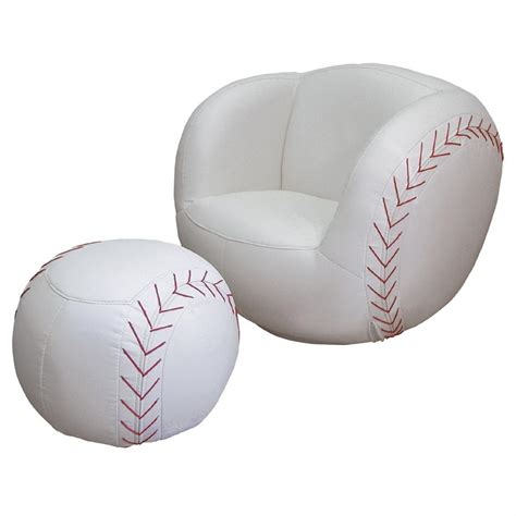 baseball chair with ottoman polaris 174 baseball chair and ottoman set 163715 kid s