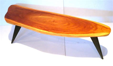 koa coffee table 1950s american modern freeform coffee table hawaiian koa