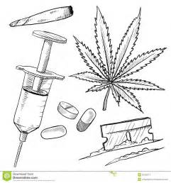 illegal drugs drawing stock vector image of high norml