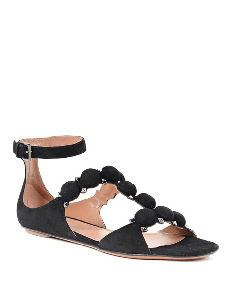 alaia sandals suede sandals by ala 239 a sandals ikrix