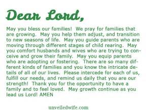 prayer of the day growing families