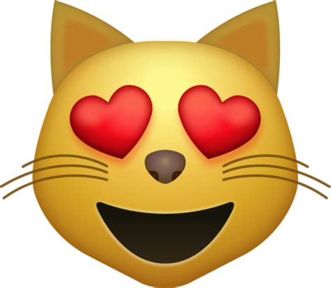 emoji love png download heart eyes cat iphone emoji icon in jpg and ai