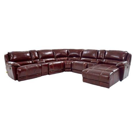 Theodore Burgundy Power Motion Leather Sofa W Right Chaise Power Motion Sofa Leather