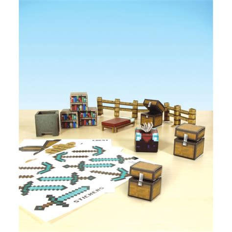 Minecraft Papercraft Utility Pack - minecraft papercraft 30 set utility pack toys