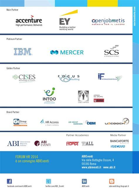 Forum Lavoro Banca by Forum Abi Hr Banche E Risorse Umane 2014 Programma