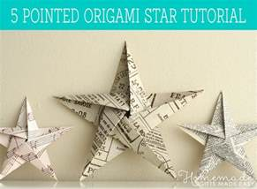 Printable Birthday Decorations Folding 5 Pointed Origami Star Christmas Ornaments