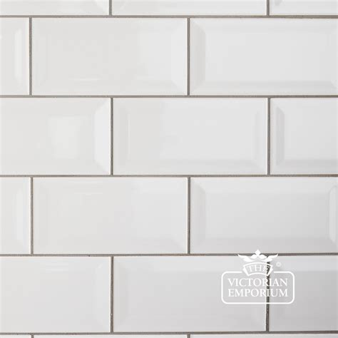 Backsplash For Yellow Kitchen by Bevel Wall Tiles 100x200mm White Interior Ceramic Wall