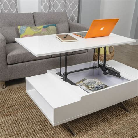 White Lift Top Coffee Table Matrix Stelar White Lift Top Rectangular Coffee Table A Interior Design
