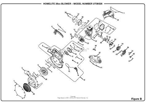 homelite 2 parts diagram homelite ut09526 26cc blower om 990000598 parts diagram