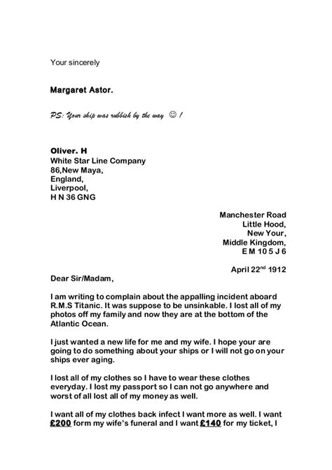 Complaint Letter Garbage Disposal Whole Class Of Letters Complaint Nov2014