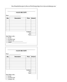 generic receipt template sle sales receipt form 6 exles in word pdf