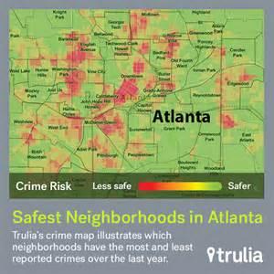 Atlanta Crime Map by Atlanta S Safest Neighborhoods