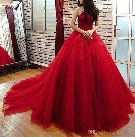 elegant red ball gown quinceanera dresses appliques