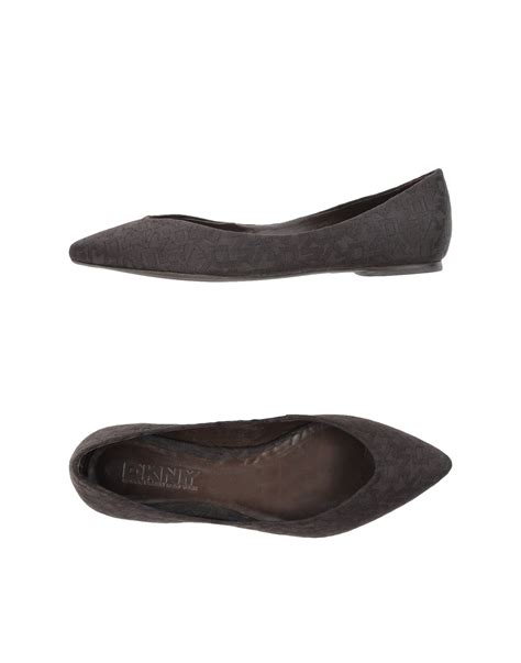 dkny shoes flats lyst dkny ballet flats in brown