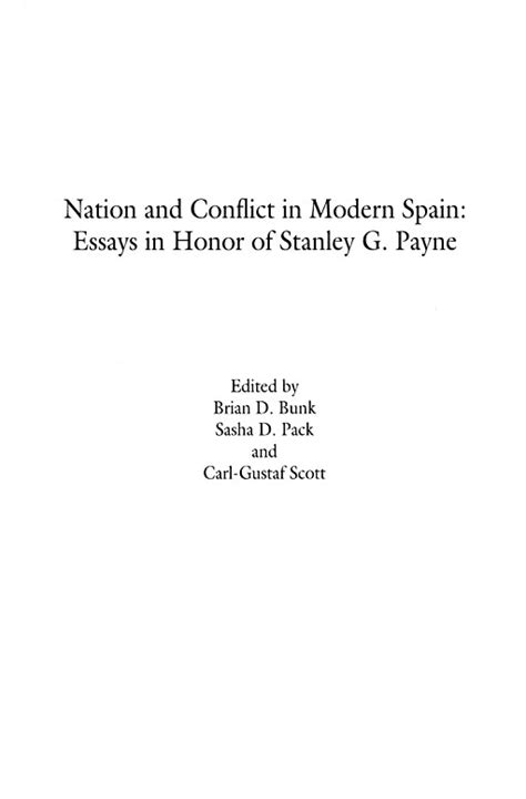 History Title Page Essay history nation and conflict in modern spain essays in honor of stanley g payne title page