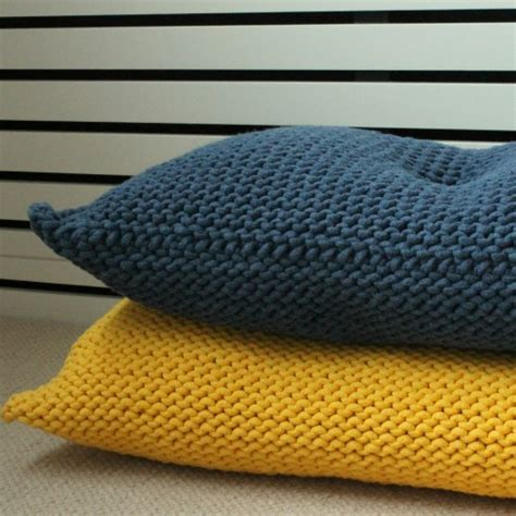 knitting pattern for cushion with buttons rectangular knitted yellow cushion with one button