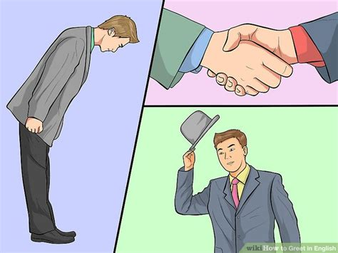 how to greet in english 10 steps with pictures wikihow
