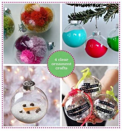 clear ornament crafts clearly cute ornaments pinterest