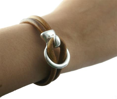 Antique Silver HOOK & LOOP Leather Clasp / Leather Closure