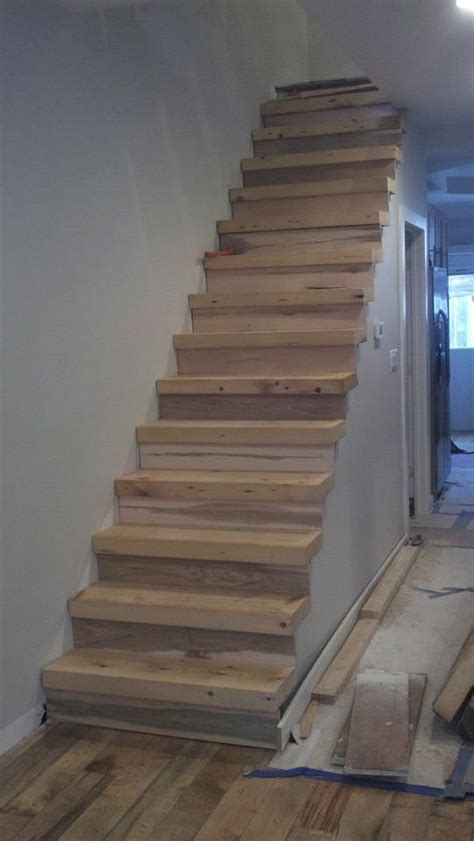 recycled beam stairs wooden stairs scale  legno