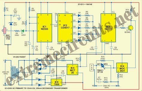 fan light remote circuit remote controlled fan regulator eeweb community