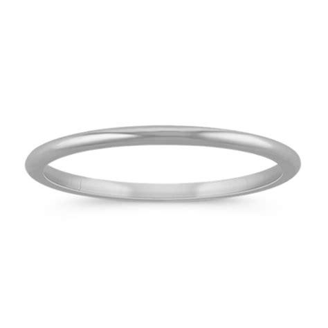 14k white gold wedding band 1mm shane co