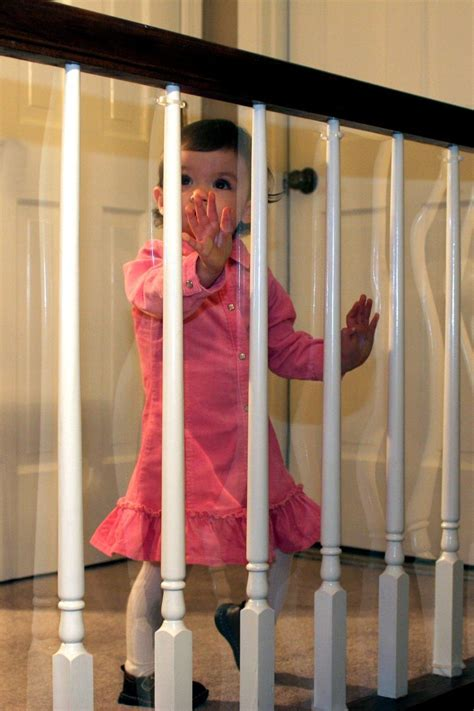 banister guards amazon com kidkusion banister guard clear childrens