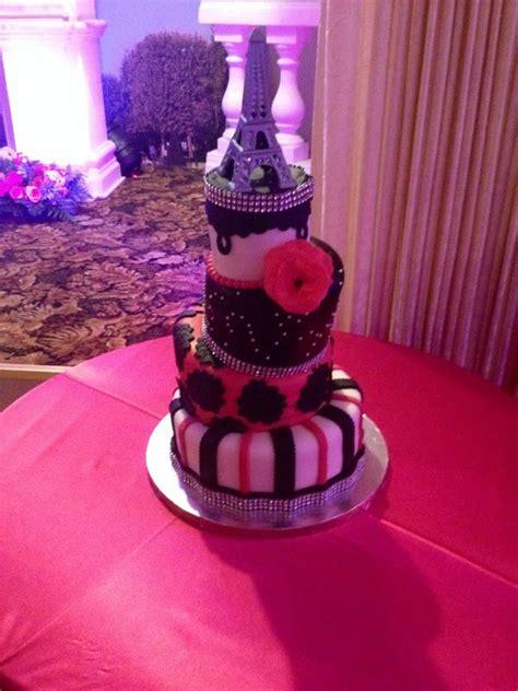 paris themed quinceanera cakes paris themed quince sweetsixteen cake cakes pinterest