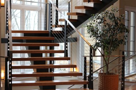 Residential Stairs Design Residential Staircase Modern Staircase Philadelphia By Dibello S Metal Designs