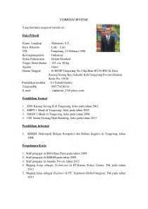 Curriculum Vitae Indonesia by Contoh Daftar Riwayat Hidup