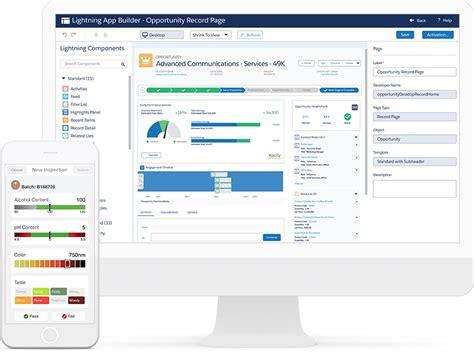 custom application development exles from salesforce