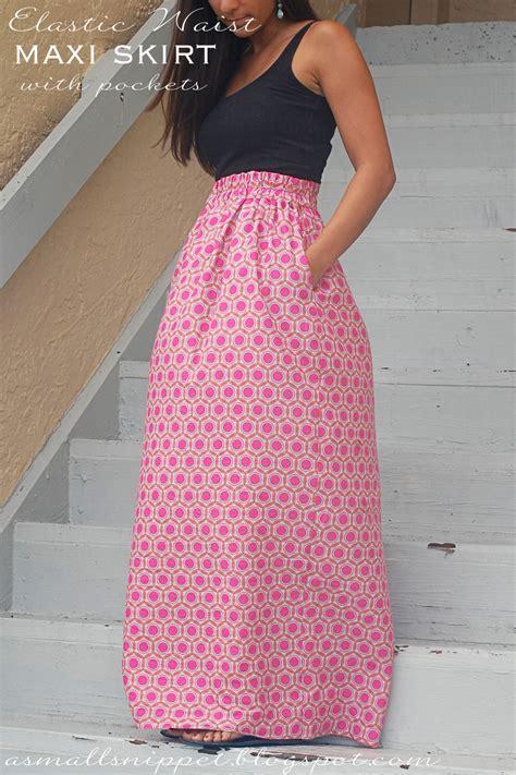 pattern simple elastic waist skirt elastic waist skirt with pockets tutorial sewtorial